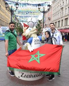 Фанаты из Ирана и Марокко оккупировали центр Петербурга