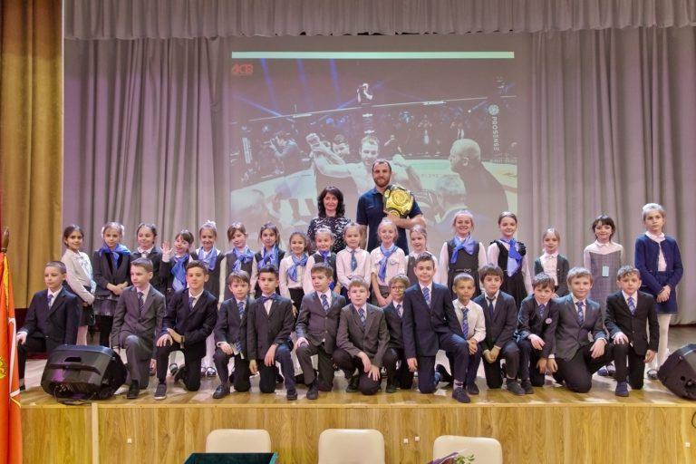 В гимназии № 622 Выборгского района Санкт-Петербурга опять интересный гость!