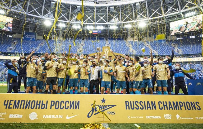 ФК «Зенит» — 2-й раз подряд чемпион России,