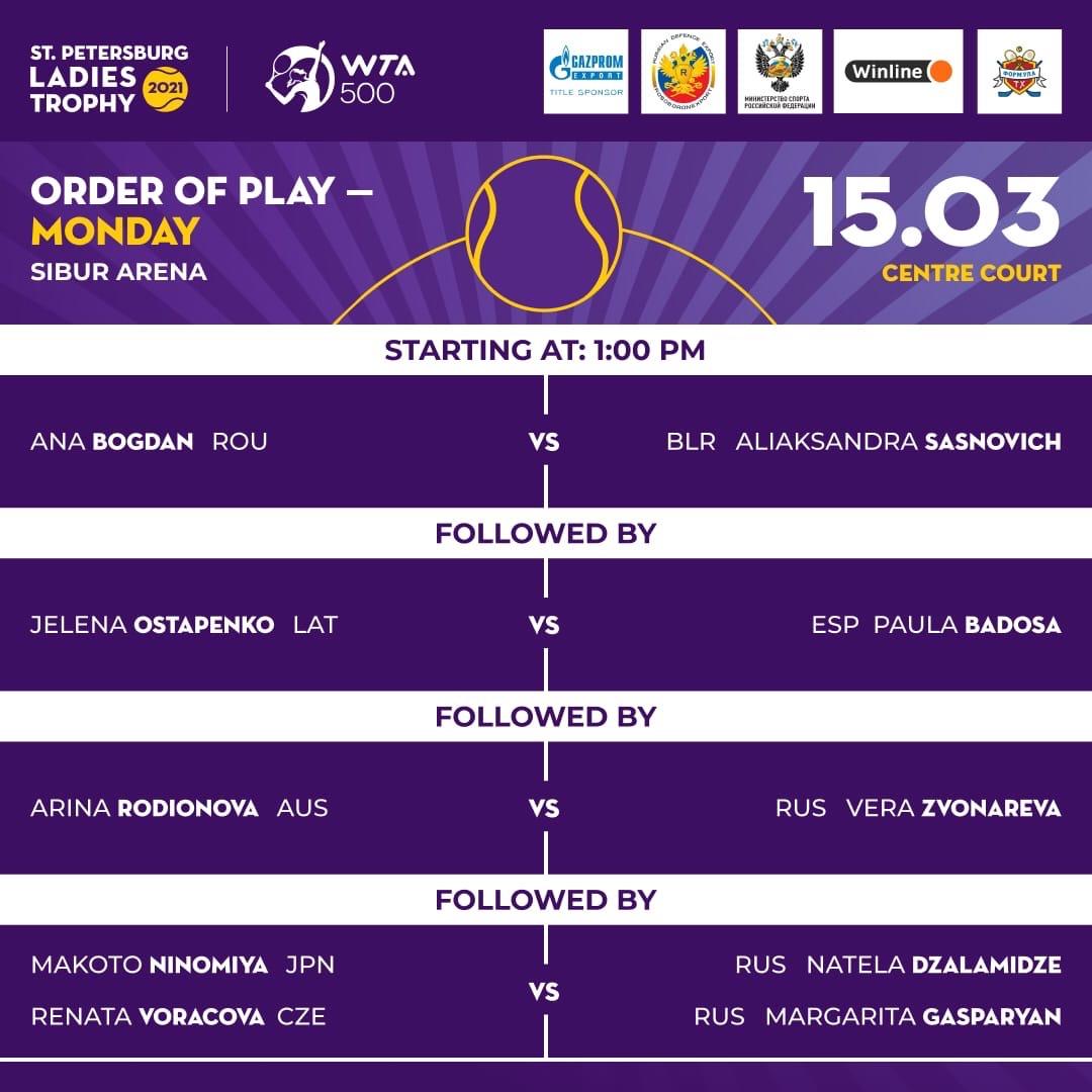 Русский след на турнире St.Petersburg Ladies Trophy 2021